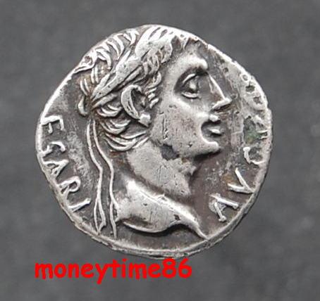Denier d' Auguste au temple de mars