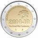 2 €uro commémorative Belgique 2014