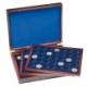 Coffret numismatique en bois LUXE pour pièces de 2 €